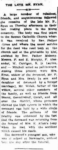 Moree Gwydir Examiner and General Advertiser. 18 December 1914. http://nla.gov.au/nla.news-article111674837