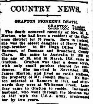 COUNTRY NEWS. (1926, February 4). The Sydney Morning Herald (NSW : 1842 - 1954), p. 12. Retrieved March 18, 2014, from http://nla.gov.au/nla.news-article16280235