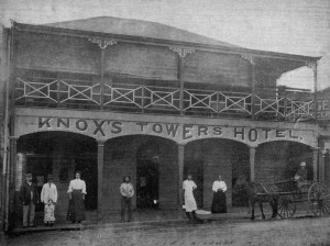 Is this the same Towers Hotel? Image c1906 from John Oxley Library. http://trove.nla.gov.au/version/47944995