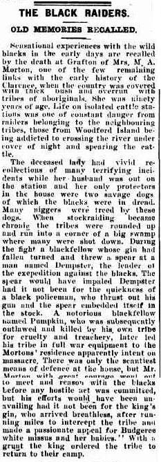 THE BLACK RAIDERS. (1926, February 8). The Richmond River Express and Casino Kyogle Advertiser (NSW : 1904 - 1929), p. 5. Retrieved March 18, 2014, from http://nla.gov.au/nla.news-article123061705