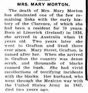 MRS. MARY MORTON. (1926, February 12). The Land (Sydney, NSW : 1911 - 1954), p. 18. Retrieved March 18, 2014, from http://nla.gov.au/nla.news-article116261642