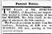 Family Notices. (1885, May 18). Gippsland Times (Vic. : 1861 - 1954), p. 3 Edition: Morning.. Retrieved March 9, 2015, from http://nla.gov.au/nla.news-article61922839